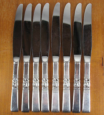 8 x Dinner Knives Oneida Community Morning Star 1948 vintage silverplate