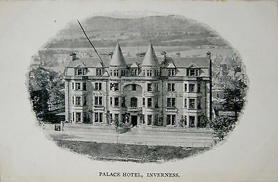 Early Printed Postcard, Palace Hotel, Inverness.