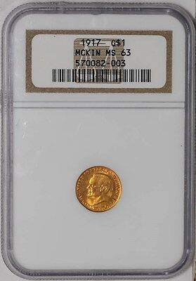 1917 $ Gold McKinley MS63 NGC