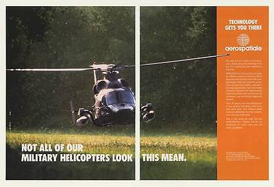 1990 Aerospatiale AS 565 Panther Helicopter Photo 2-Page Ad