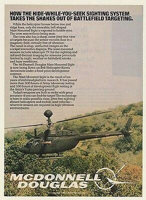 1984 Bell Kiowa Aeroscout Helicopter McDonnell Douglas Mast-Mounted Sight Ad