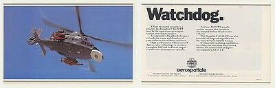 1987 Aerospatiale Dauphin 2 AS 15 TT Helicopter 2-Page Ad