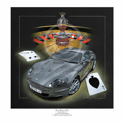 Aston Martin Dbs V12 James Bond Casino Royale 007 2007 New Painting Print Art