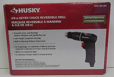 "Husky 3/8"" Keyed Chuck Reversible Air Drill HC4310 Brand New"