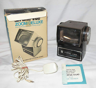 Pana-Vue Zoom Deluxe - lighted table top 2 x 2 slide viewer - zooms 8x larger