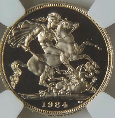 1984 Great Britain Proof 1/2 Sovereign 24 k Gold, NGC PF69 Ultra Cameo UC