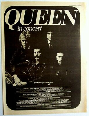 QUEEN 1982 Poster Ad UK CONCERT