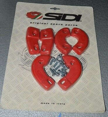 SIDI Supermoto Replacement Boot sole Slider Kit~Supermotard~RED!! *BN & SEALED*