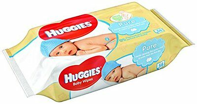 Huggies Pure Wipes 18 Packs 1008 Wipes * Brand New * Fast Delivery