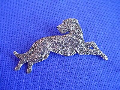Irish Wolfhound Pin #21D Pewter Sighthound dog jewelry by Cindy A. Conter Hound