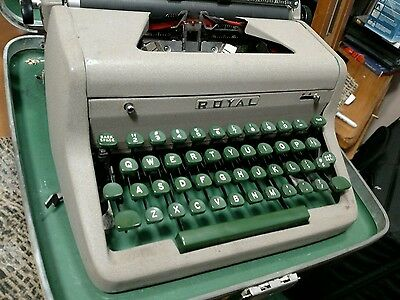 Vintage Royal Portable Quiet Deluxe Typewriter with case