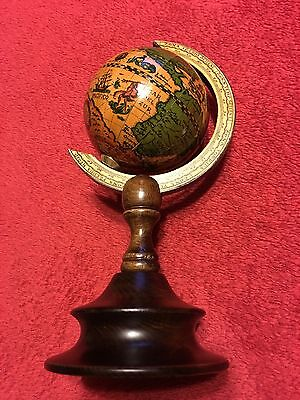 Vintage Earth Globe Made In Italy (IT-12)