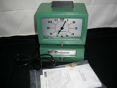 Acroprint Model 125 Analog Manual Print Time Clock with Month/Date/0-12 hrs/mins