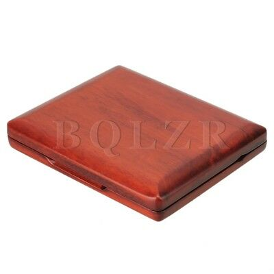 Wooden Oboe Reed Case Holds 10PCS Oboe Reeds Protector With Soft Velvet Red