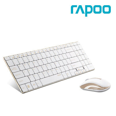 NEW  Rapoo 9160 Wireless Mouse And Keyboard Combo Set - Gold