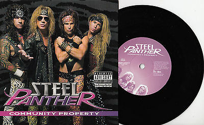 "STEEL PANTHER Community Property 2009 UK vinyl 7"" NEW/UNPLAYED"