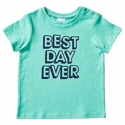 NEW Baby Short Sleeve 'Best Day Ever' T-Shirt