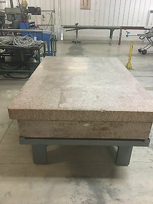 Herman Stone Pink Granite Inspection Surface Plate 48 X 72 X 12 Thick