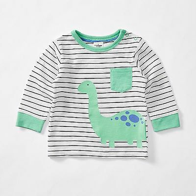 NEW Baby Long Sleeve Dinosaur Print T-shirt