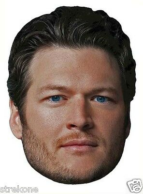 BLAKE SHELTON TV's THE VOICE Coach /Judge - Large Head WindoCling Stick-On Decal