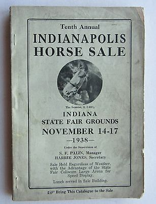 Catalog For Indianapolis Horse Sale 1938