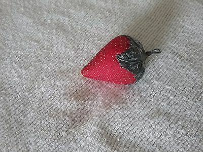 Antique Sterling Silver Silk Emery Strawberry