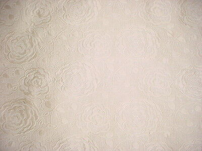 10+Y Schumacher Oyster Floral / Leaf Faux Silk Matelasse Upholstery Fabric