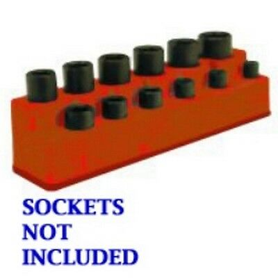 "3/8"" Drive 12 Hole Rocket Red Impact Socket Holder MTS1387 Brand New!"