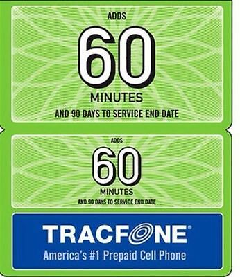 TRACFONE $19.99 Refill card 90 Days,  60 Minutes