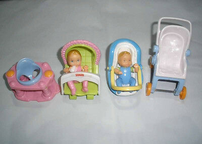 Fisher Price Loving Family Dollhouse Furniture Baby Set