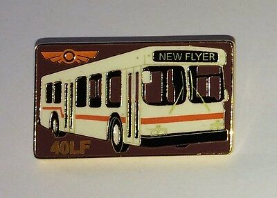 New Flyer Industries - 40LF Low Floor Bus Pin - Lapel Pin - PinBack - Brooch