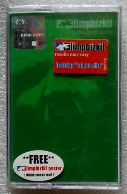 limp bizkit《 results may vary 》RARE OOP Malaysia Cassette Brand New Sealed