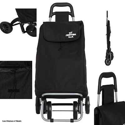 Shopping Trolley Folding Storage Wheels Cart Large Capacity Bag Stable Carry New