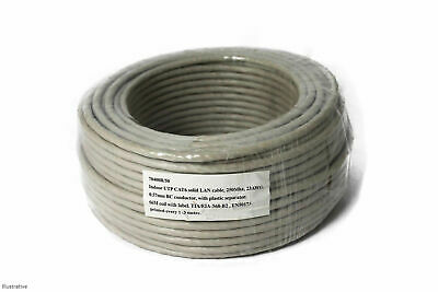 50m CAT6e Cat 6 UTP COPPER Ethernet Network SOLID Cable Wire