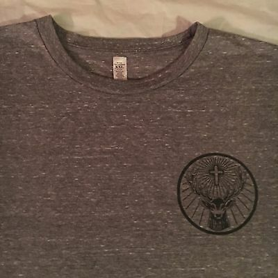 official JAGERMEISTER promo t shirt - LOGO stag antlers cross - NEW NWOT - (XXL)