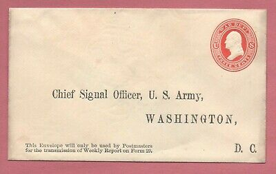 1873 3C Reay Official War Department Stationery Unused Upss Wd34 Kn26