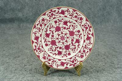 Franciscan China Luncheon Plate Lorraine Maroon Pattern C. 1940S
