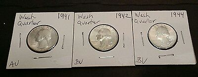 Washington Quarters pre 1964.....free shipping!!!!!