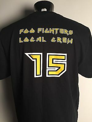 Foo Fighters T Shirt Dave Grohl Local Crew Rare Size XL