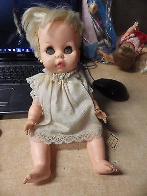 "Vintage 1967 Sleepy Brown Eyes Ideal Betsy Wetsy Doll...12""...she Squeaks!!"