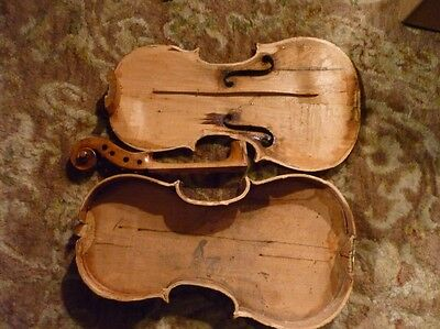 Old Antique Violin For Parts or Repair Full Size