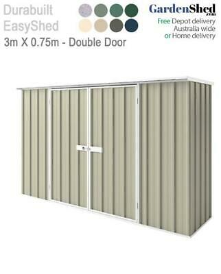 EasyShed 3m x 0.75m Garden Shed - FREE Anchor & Skylight (Sep only)