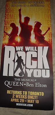 We Will Rock You The Musical Queen & Ben Elton Theater Poster Mirvish Toronto