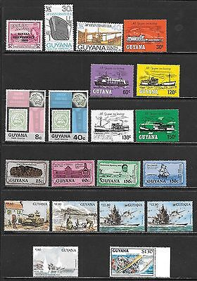 GUYANA Nice Mint Never Hinged Selection Including Disney Sheets! (Feb 0131)
