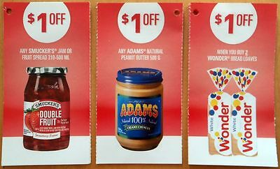 SAVE $16 Jam Peanut Butter Bread Loaves Coupons CANADA ONLY