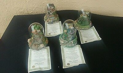 4 X Franklin Mint Cottages. With C.O.A. Excellent Condition.