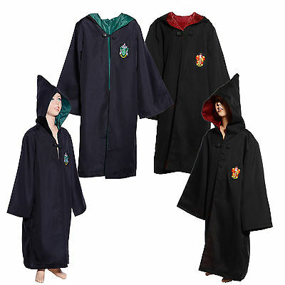 Robe Cape a Capuche Deguisement J. K. Rowling Harry Potter Gryffindor Slytherin