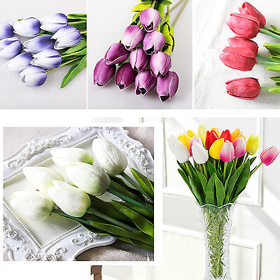1/10pcs Real Touch Tulip Latex Artificial Flower Bridal Bouquet Party Home Decor