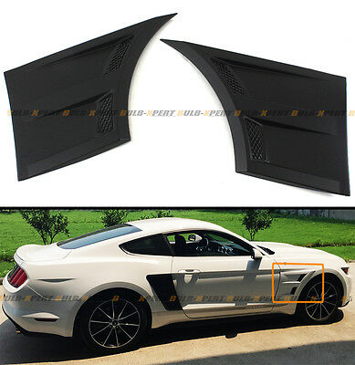 For 2015-18 Ford Mustang 3D Style Front Fender Flare Side Panel Side Scoop Vents