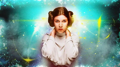 """MX18057 Carrie Fisher - American Actress Princess Leia Star 24""""x14"""" Poster_18057"""